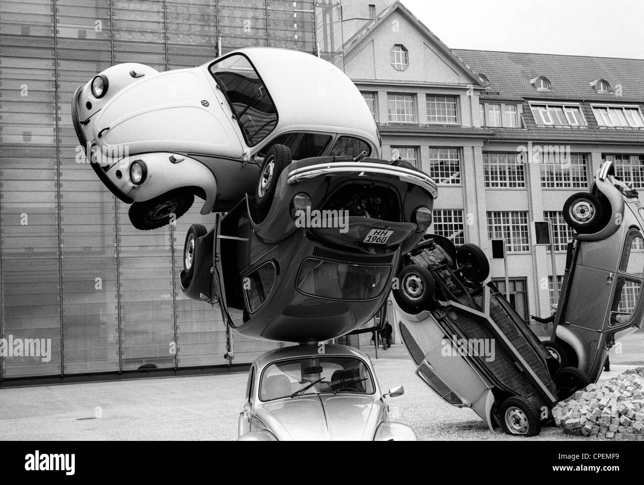 Car Culture exhibition ZKM museum Karlsruhe Baden-Wuerttemberg Germany - Stock Image