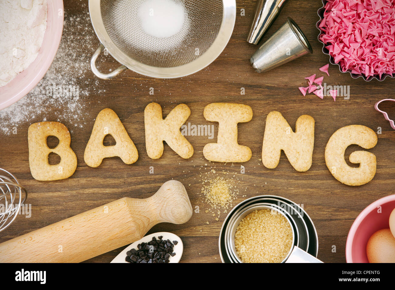 Baking cookies - Stock Image