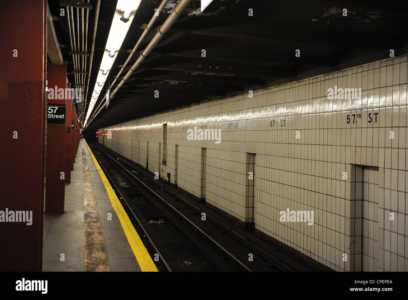57th Street Subway Station, New York - Stock Image