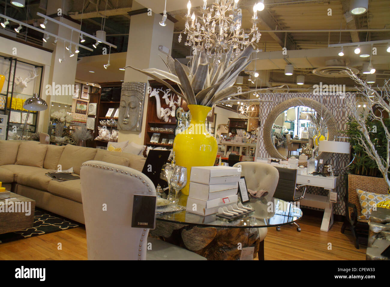 Boca Raton Florida Mizner Park Plaza Real Upscale Business Shopping Z  Gallerie Home Decor Furniture Retail Display For Sale Yell