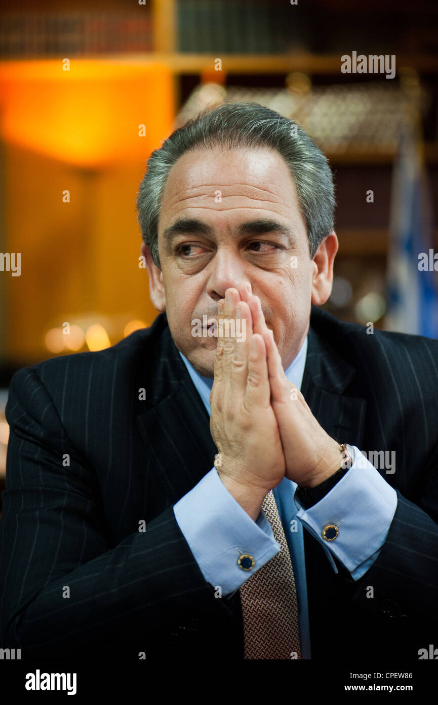 President of EBEA (Athens Chamber of Commerce & Industry) Mr. Konstantinos Michalos - Stock Image