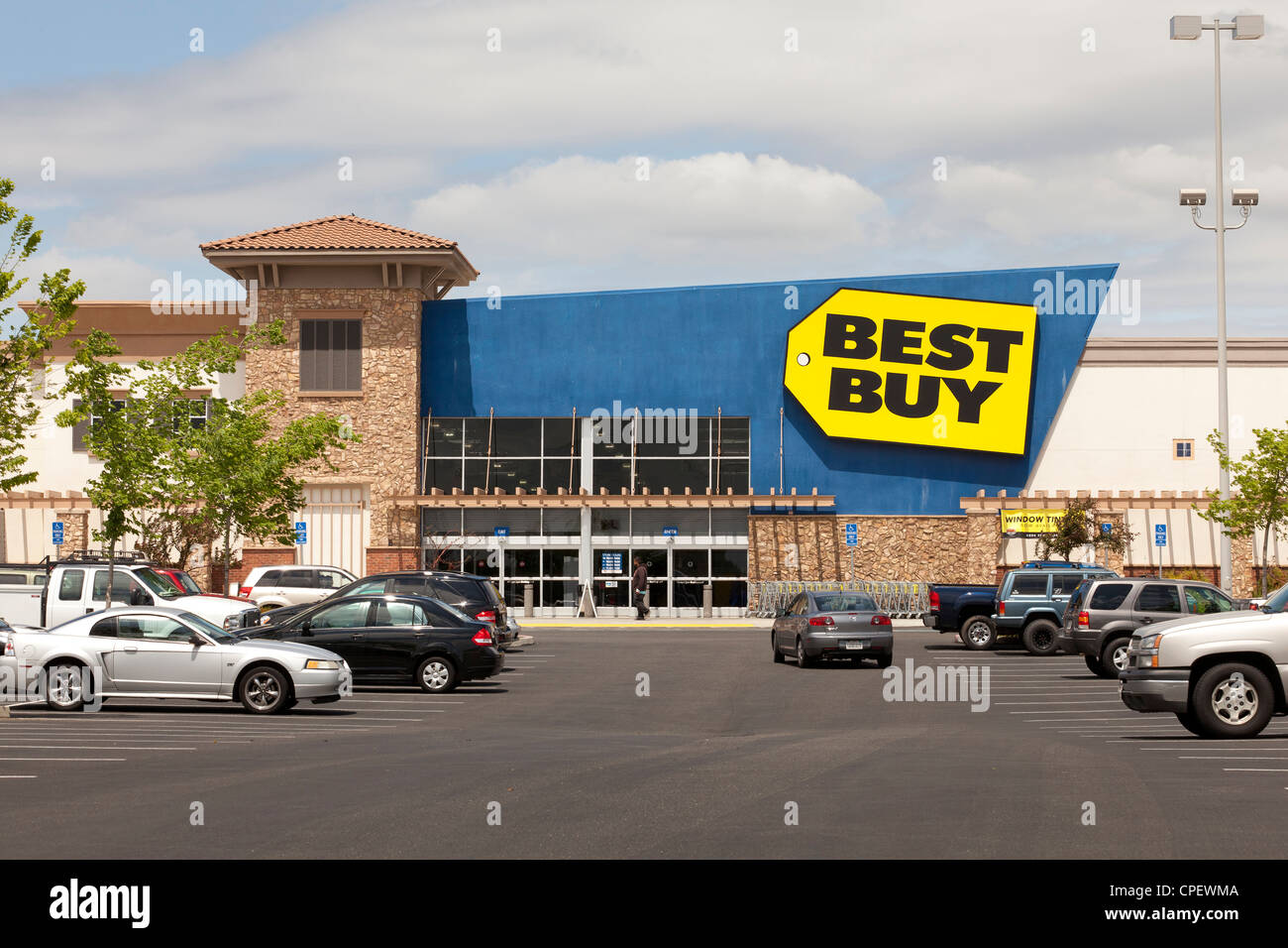 Bust Buy storefront - USA - Stock Image