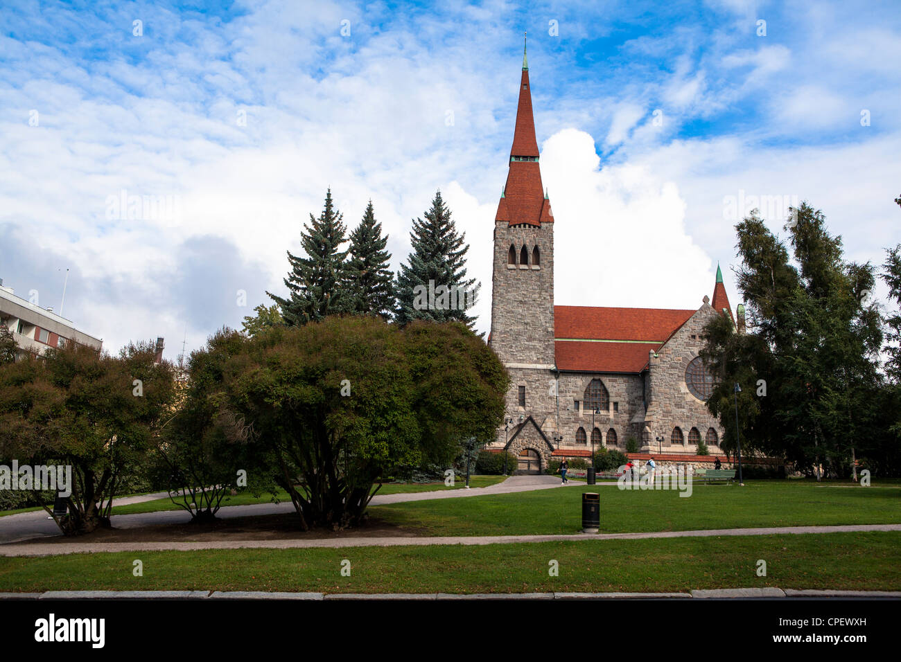 Tampere cathedral Finland Scandinavia - Stock Image