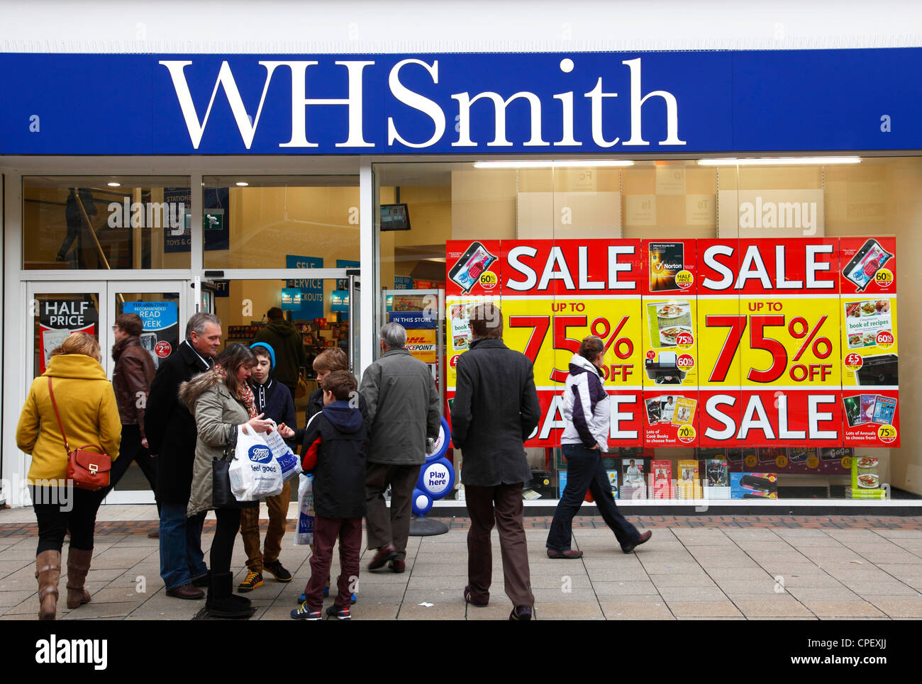 A WH Smith store in Nottingham, England, U.K. - Stock Image