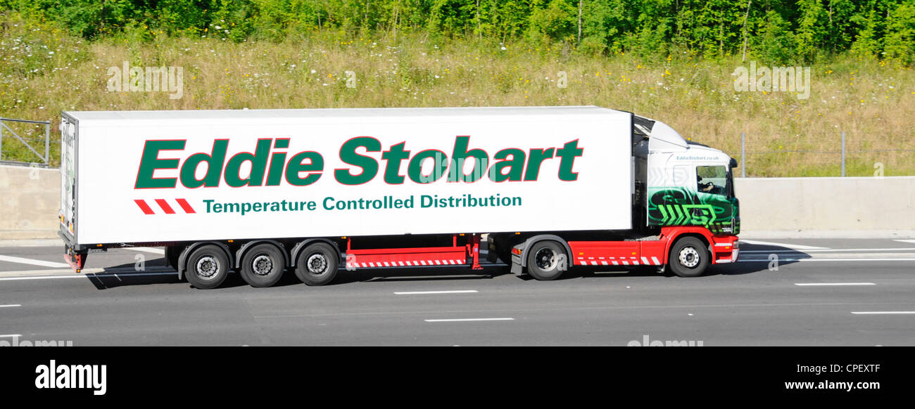 Eddie Stobart temperature controlled distribution delivery trailer and lorry - Stock Image