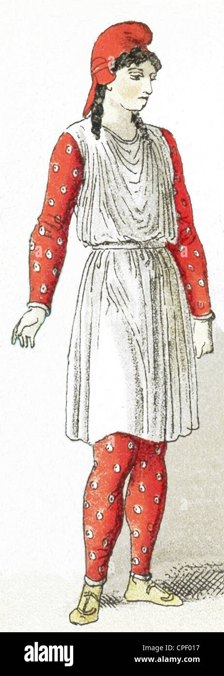 The figure in this illustration, which dates to 1882, represents man living in Asia Minor (present-day Turkey) in - Stock Image
