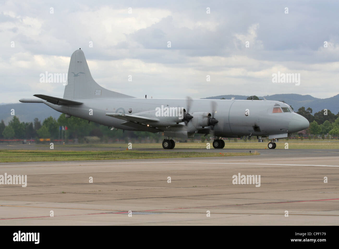 Lockheed P-3 Orion maritime patrol aircraft of the Royal Australian Air Force Stock Photo