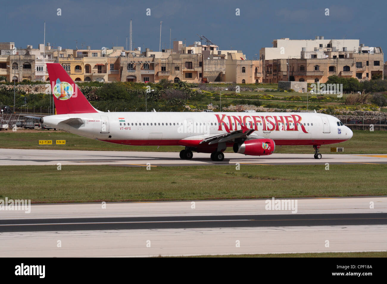 Kingfisher Airlines Airbus A321 Taxiing For Departure From Malta