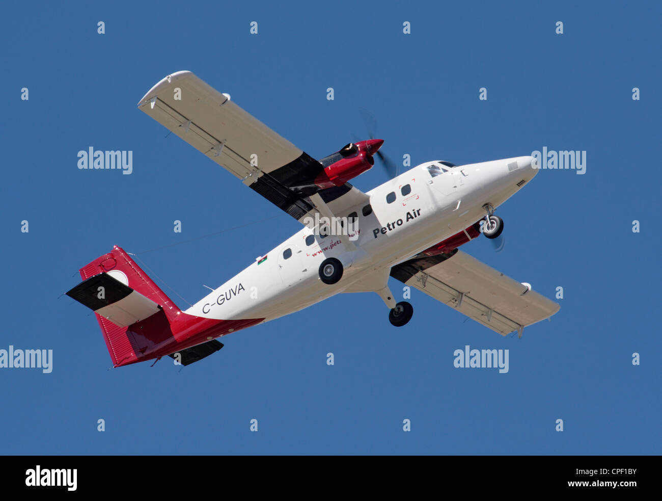DHC-6 Series 400 Twin Otter utility aircraft on delivery to Petro Air of Libya - Stock Image