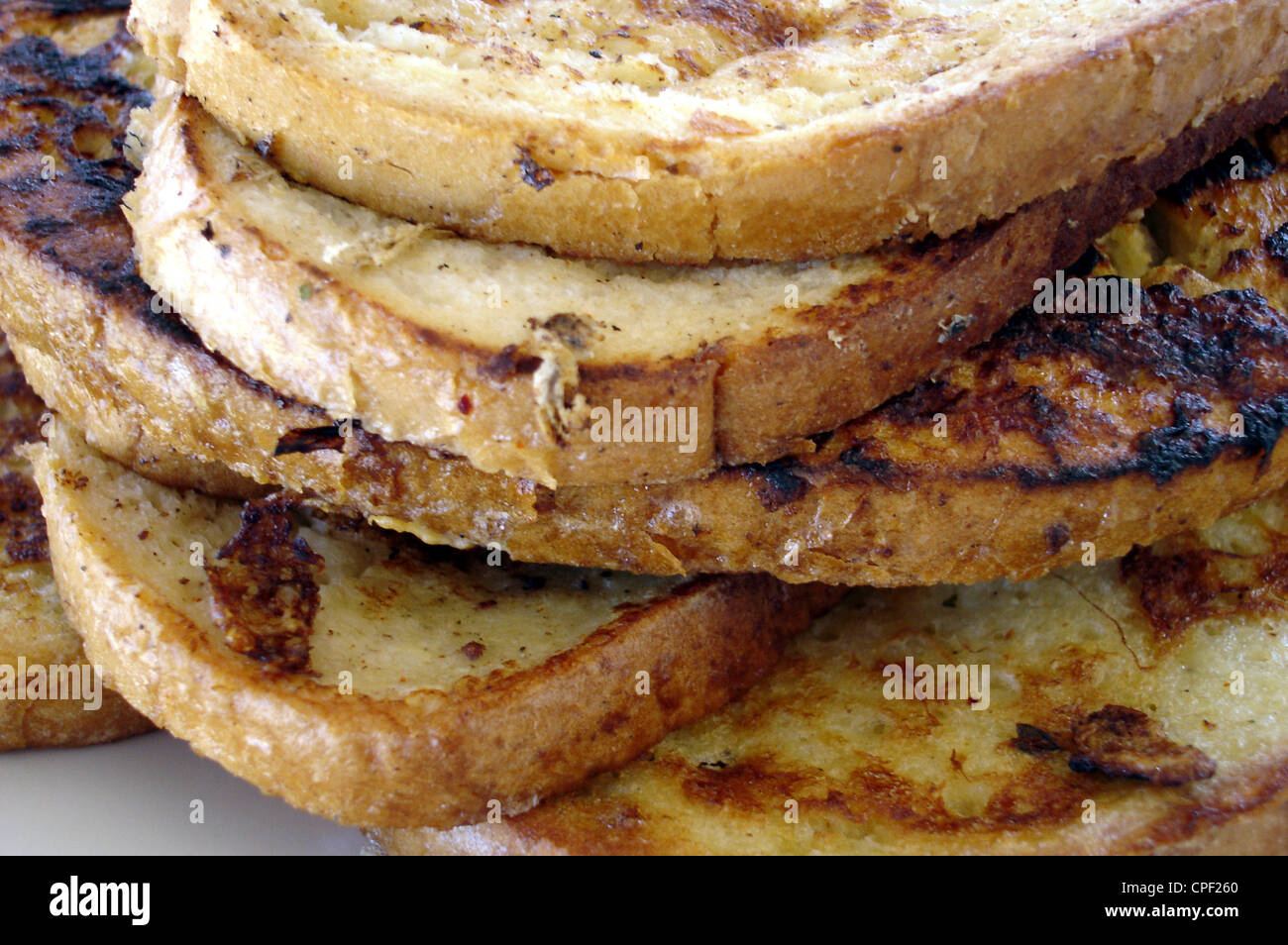 French Toast food background Stock Photo