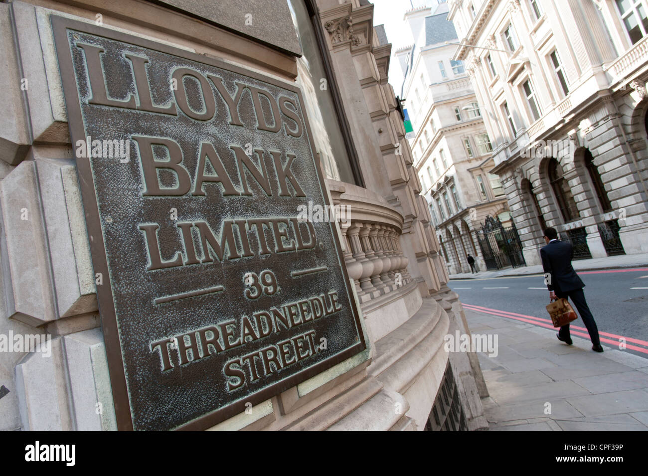 Lloyds Bank on Threadneedle Street, London, England, UK - Stock Image