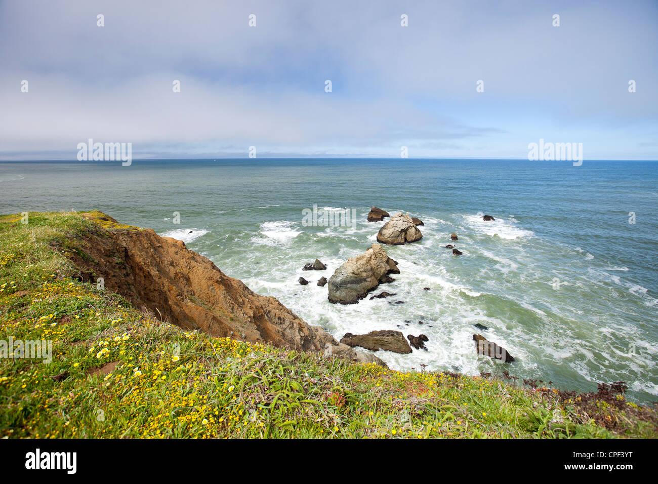 view of ocean - Stock Image