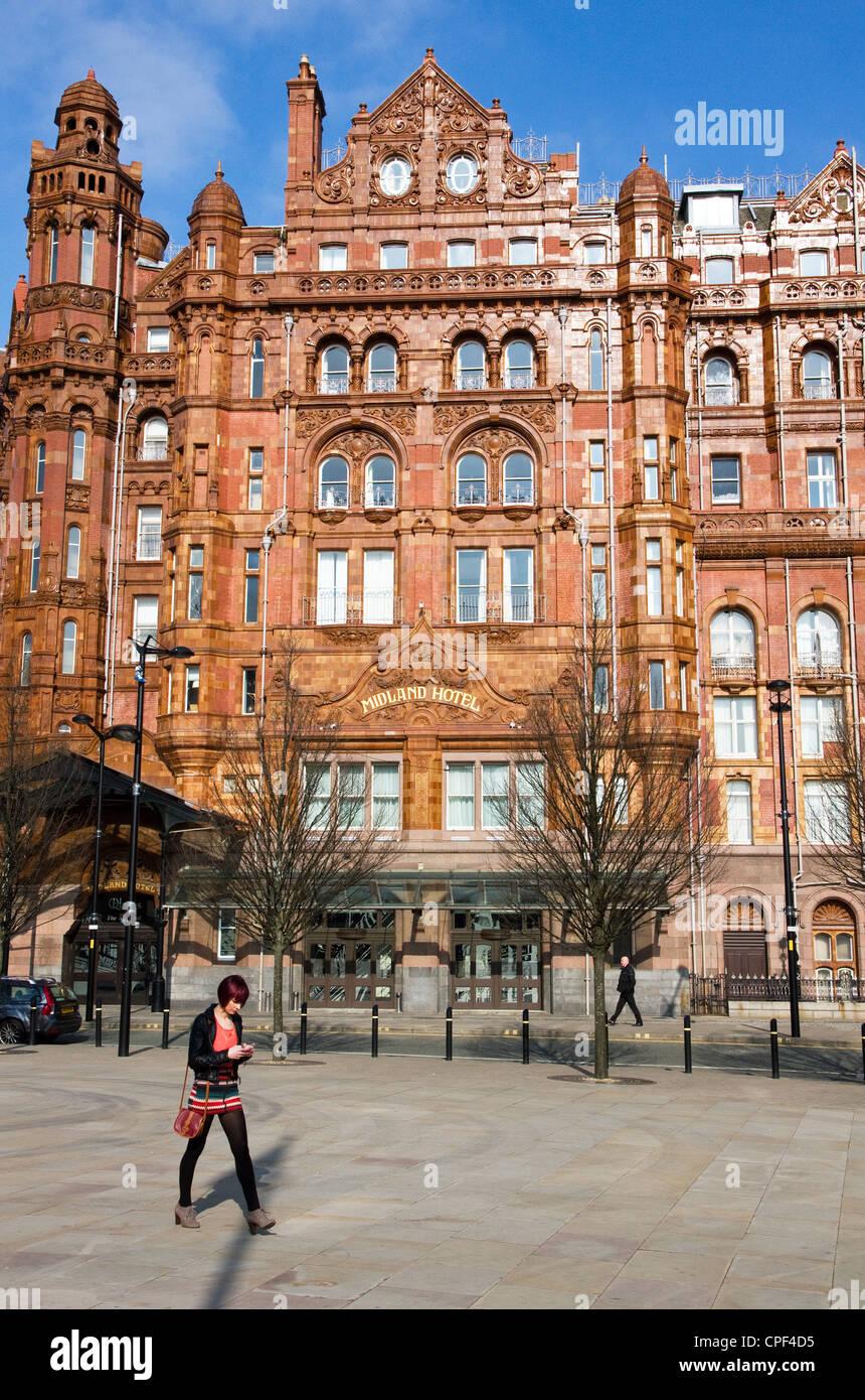 Midland Hotel, City Centre, Manchester, England, UK. - Stock Image