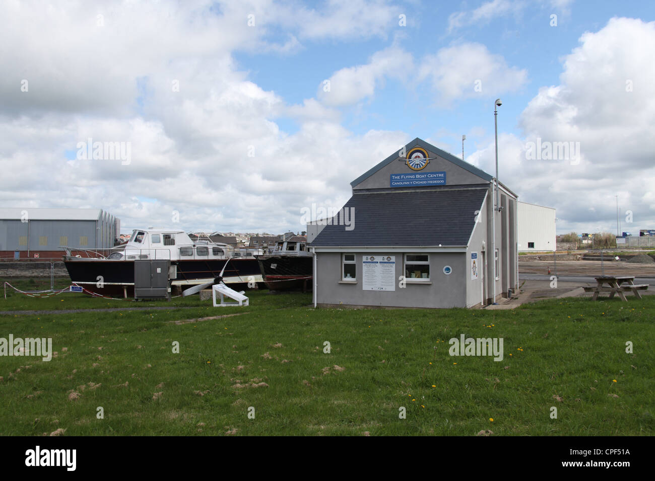 The Flying Boat Visitor Centre in Pembroke Dock - Stock Image