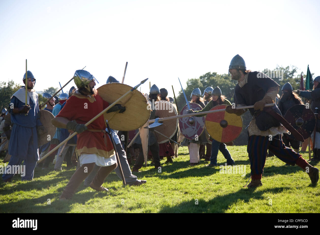 Reenactment of 1066 Battle of Hastings. East Sussex. England. - Stock Image