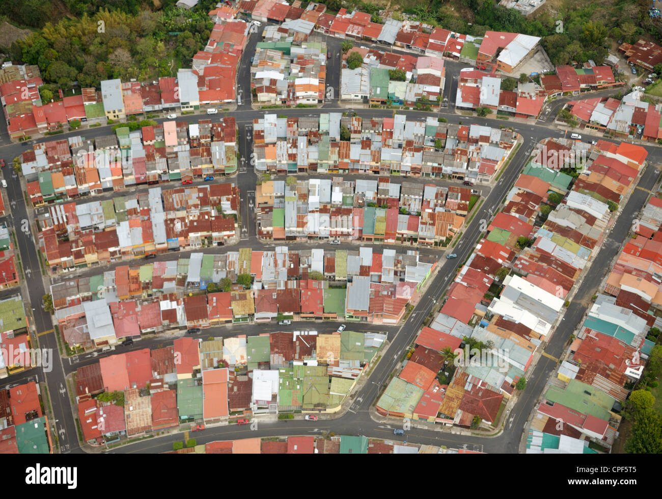 Rooftops, San Jose, Costa Rica - Stock Image