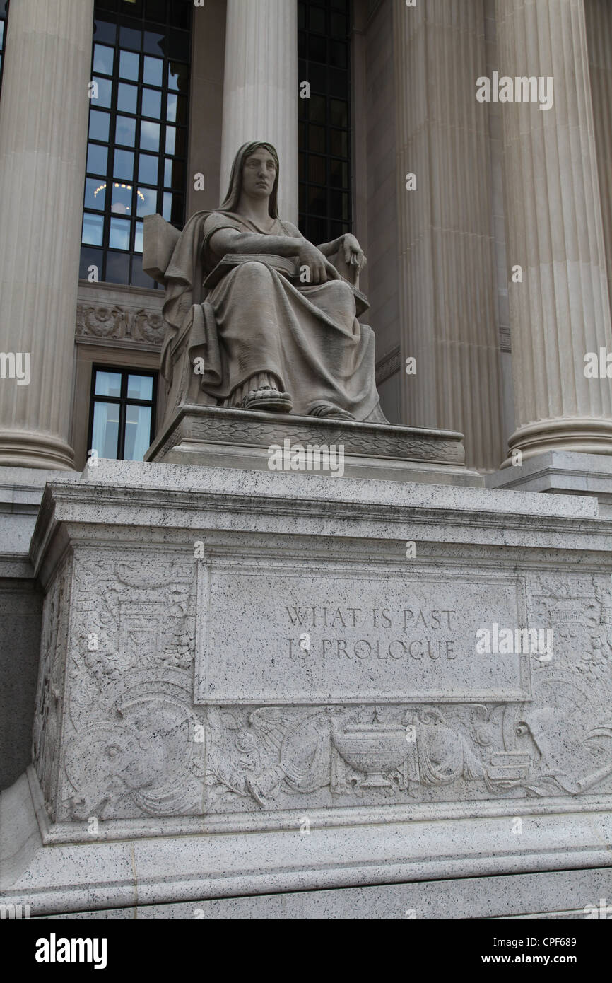 What is Past is Prologue National Archives, Washington DC District of Columbia Capital U.S.A - Stock Image