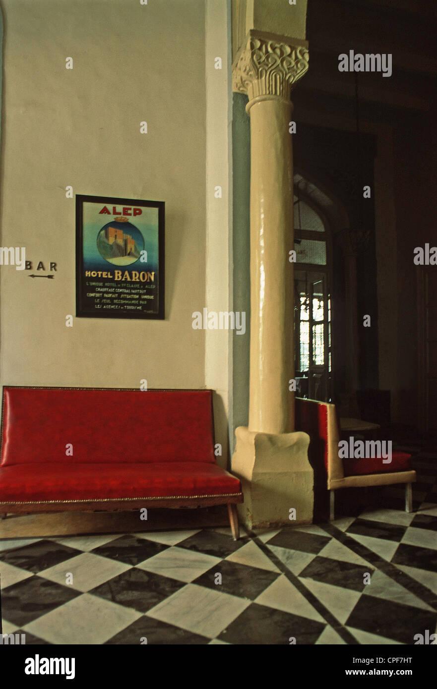 Aleppo (Syria) : Hôtel Baron - Stock Image