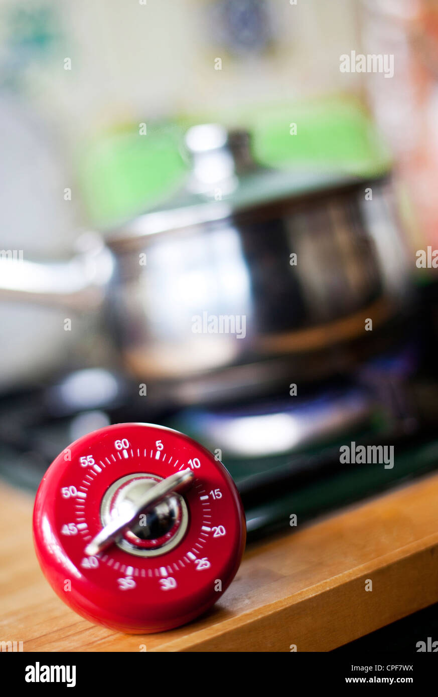 A cooking timer, London, England, UK - Stock Image
