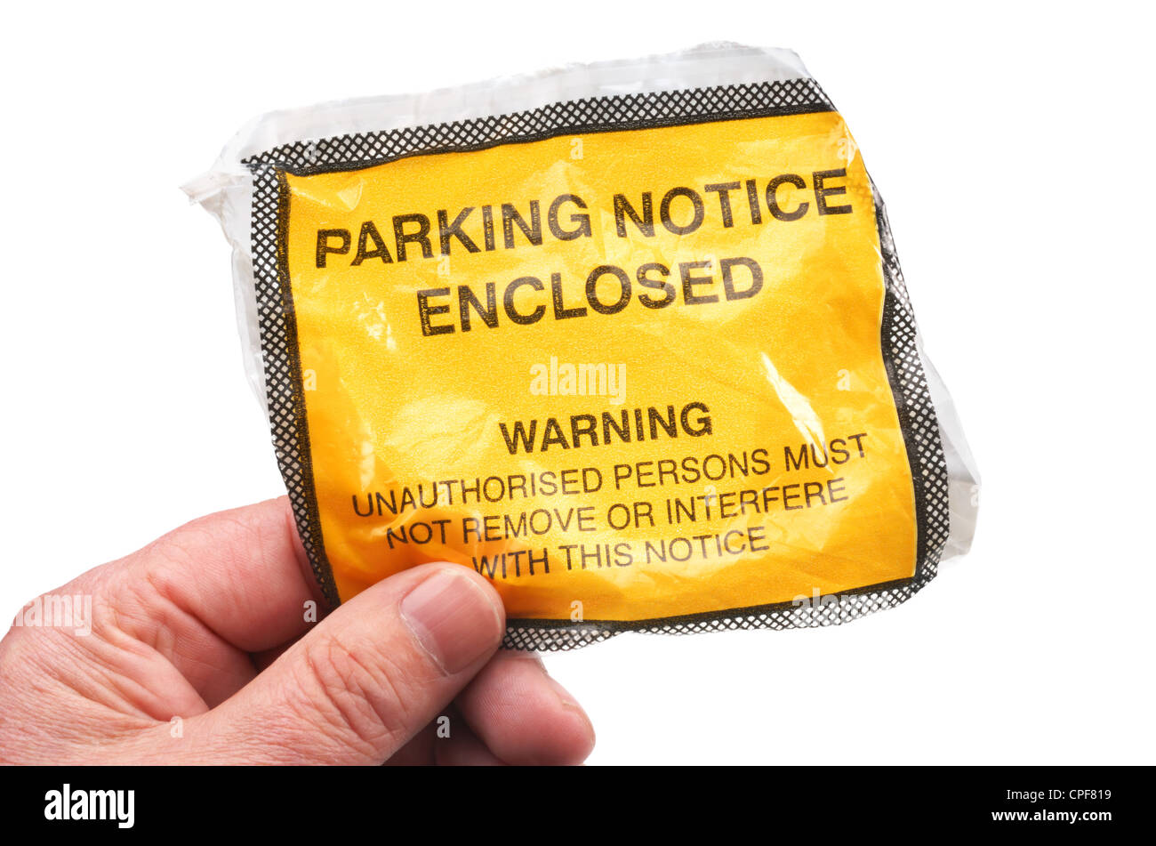 Parking Ticket - John Gollop - Stock Image