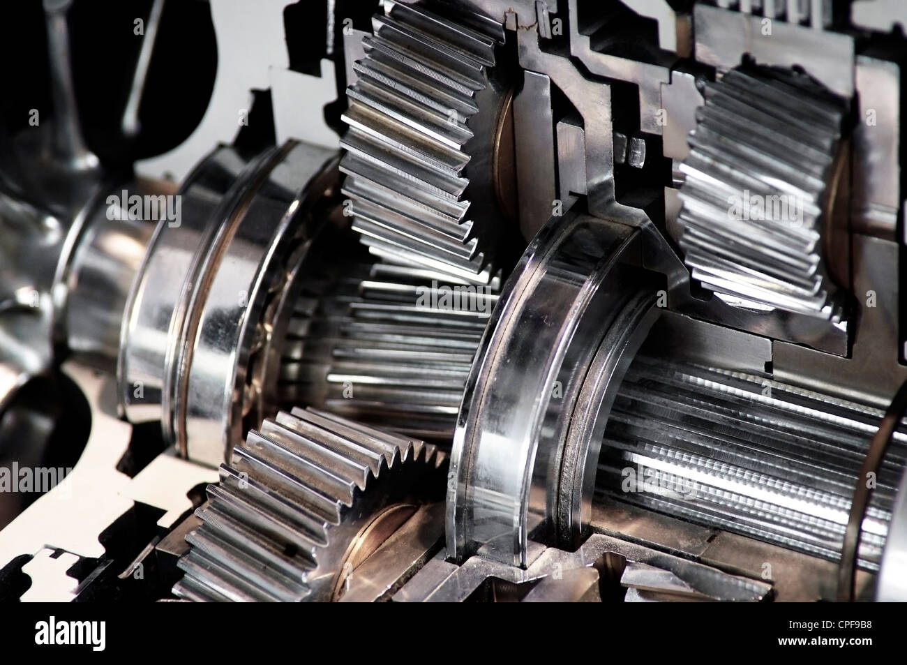 Closeup of a car's transmission - Stock Image