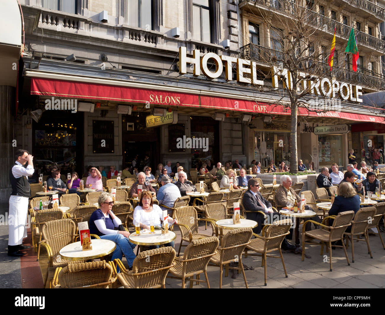 Hotel Metropole in Brussels, Belgium, one of the most famous grand hotels in the Belgian capital. - Stock Image