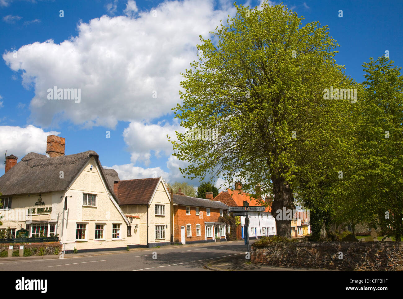 Historic, attractive buildings in the village of Walsham le Willows, Suffolk, England - Stock Image