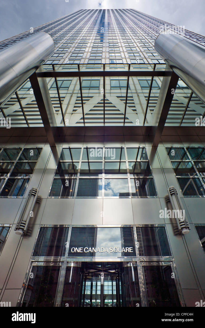 One Canada Square, Canary Wharf, London. - Stock Image