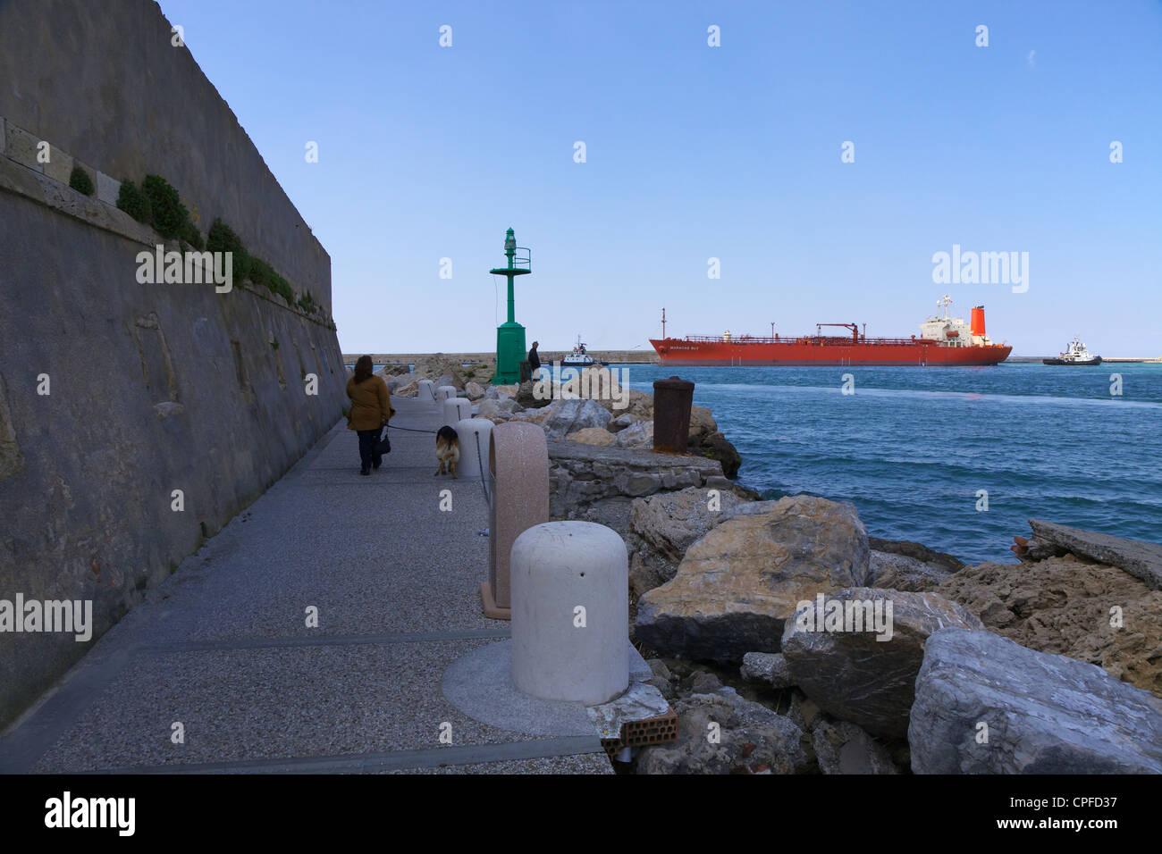 Livorno seafront - Stock Image