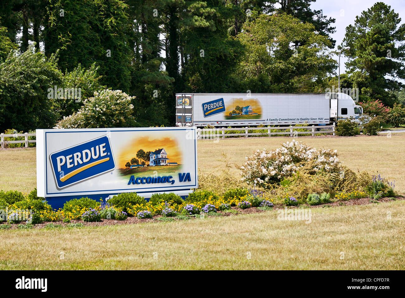 Perdue Farms, Accomac, Virginia - Stock Image