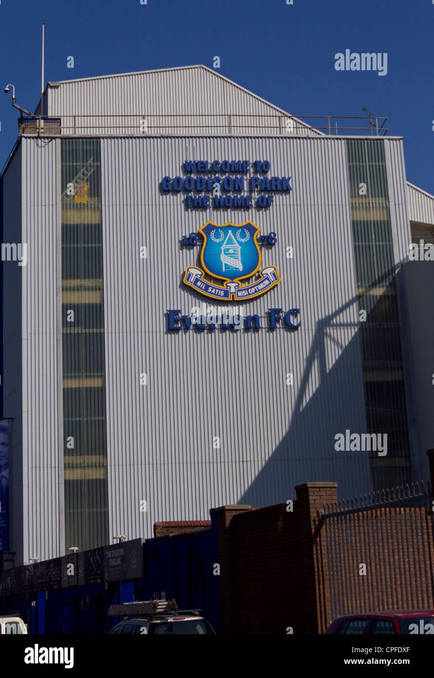 Exterior of Goodison Park, Home of Everton Football Club Stock Photo