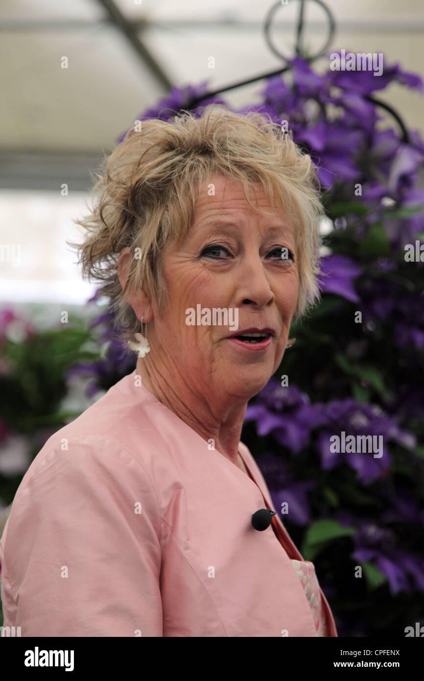 Carol Klein television gardening personality, Chelsea Flower Show 2012 - Stock Image