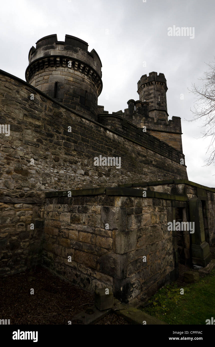 The old Calton Cemetery (burial ground) in the centre of Edinburgh, Scotland. Stock Photo