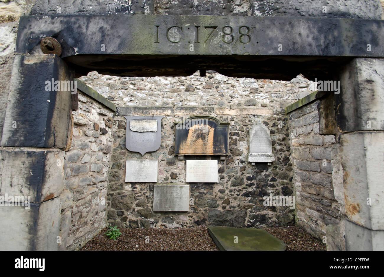 The old Calton Cemetery (burial ground) in the centre of Edinburgh, Scotland. Stock Photo