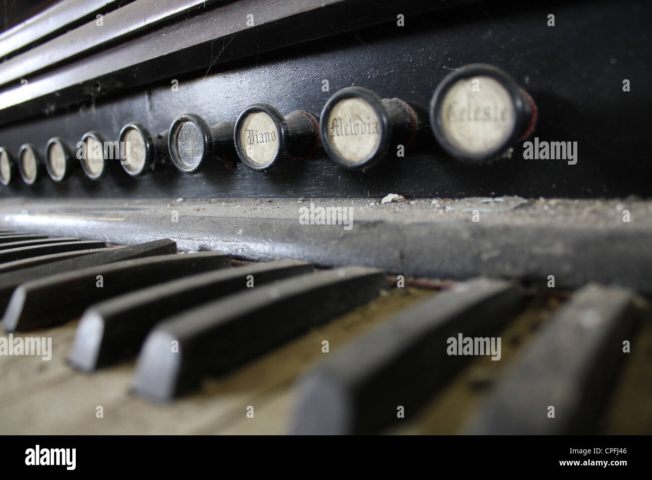 disused piano - Stock Image