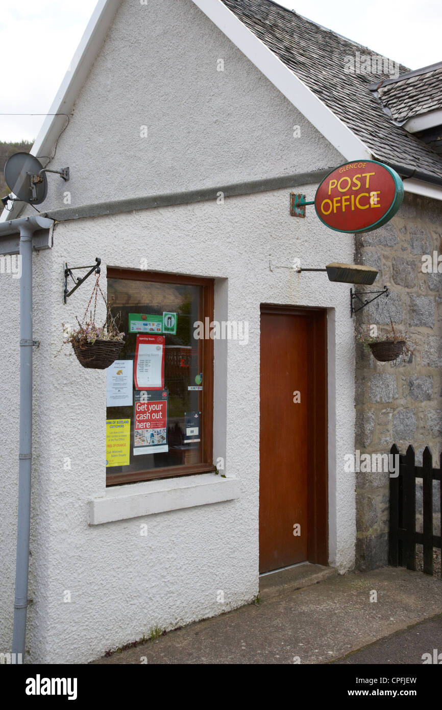 small local rural part time post office in Glencoe highlands scotland uk - Stock Image