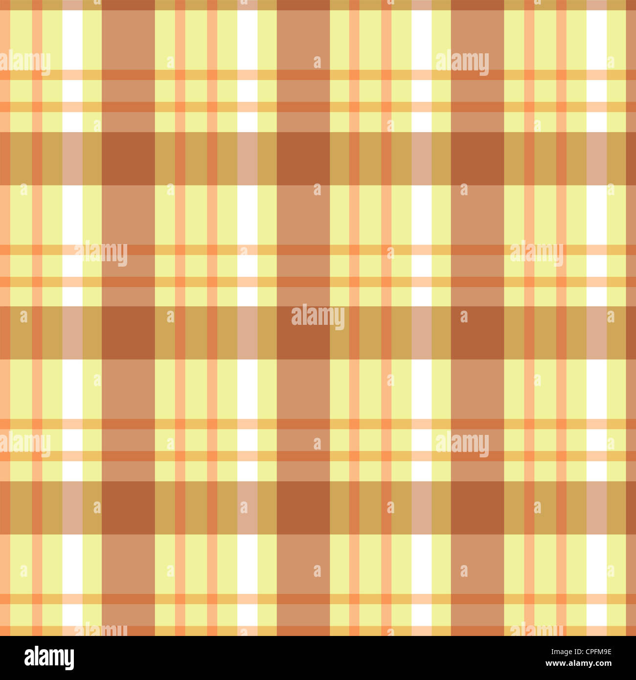 Plaid pattern in shades of brown Stock Photo