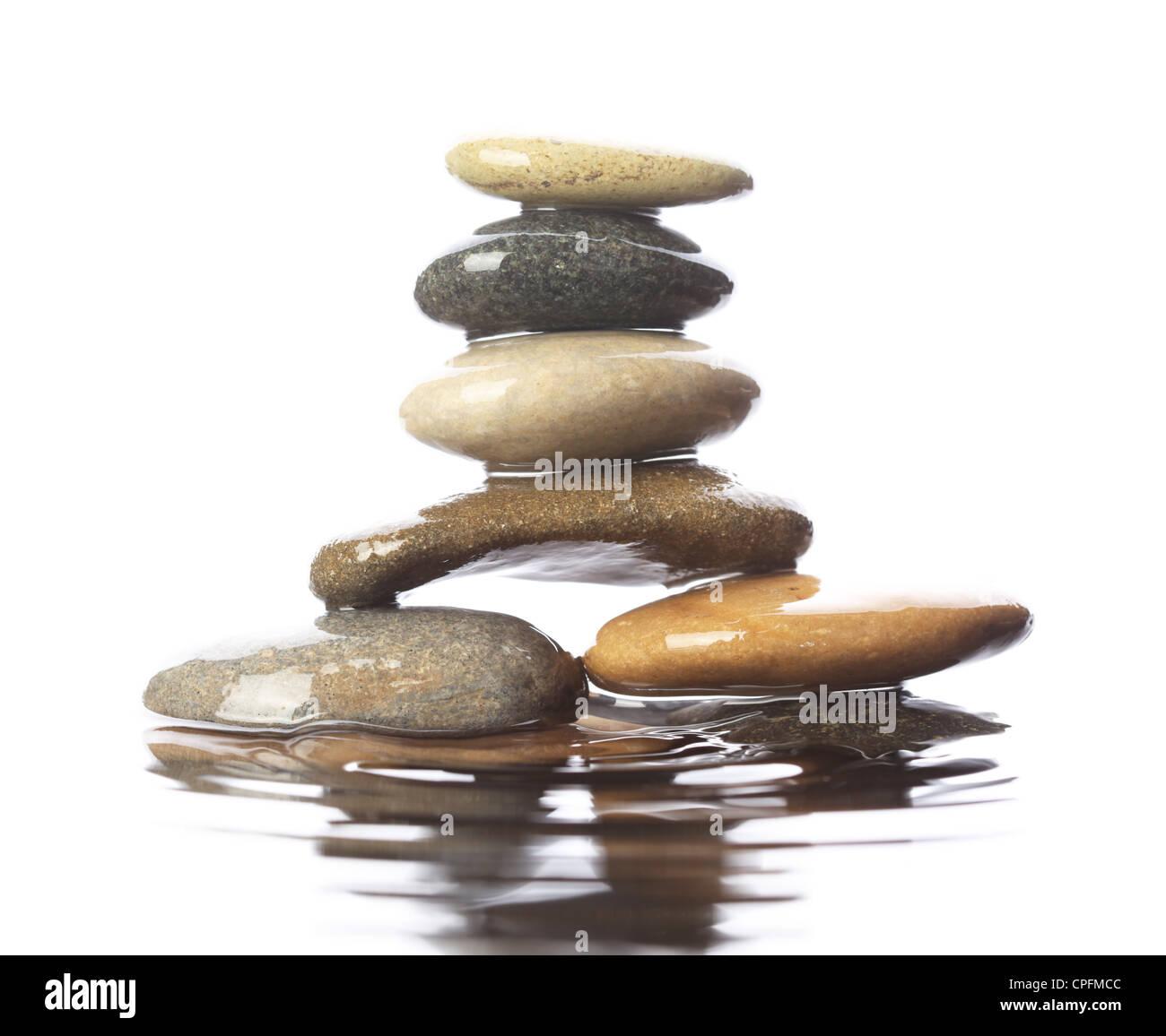 Stones in water - Stock Image