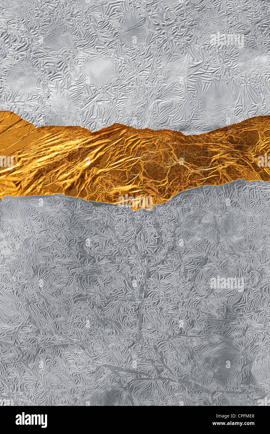 Silver and gold background - Stock Image