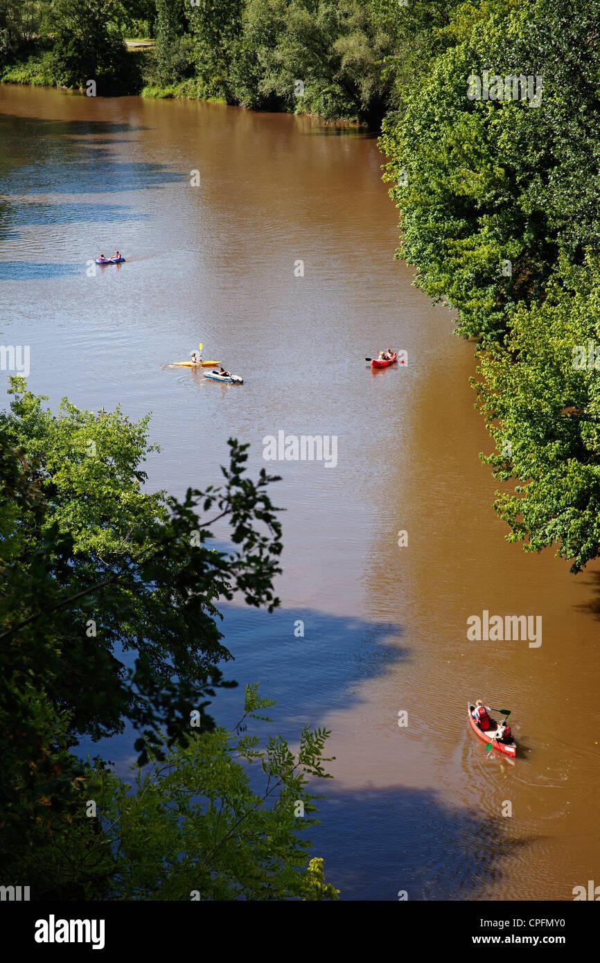 Vézére river Aquitaine Dordogne France - Stock Image