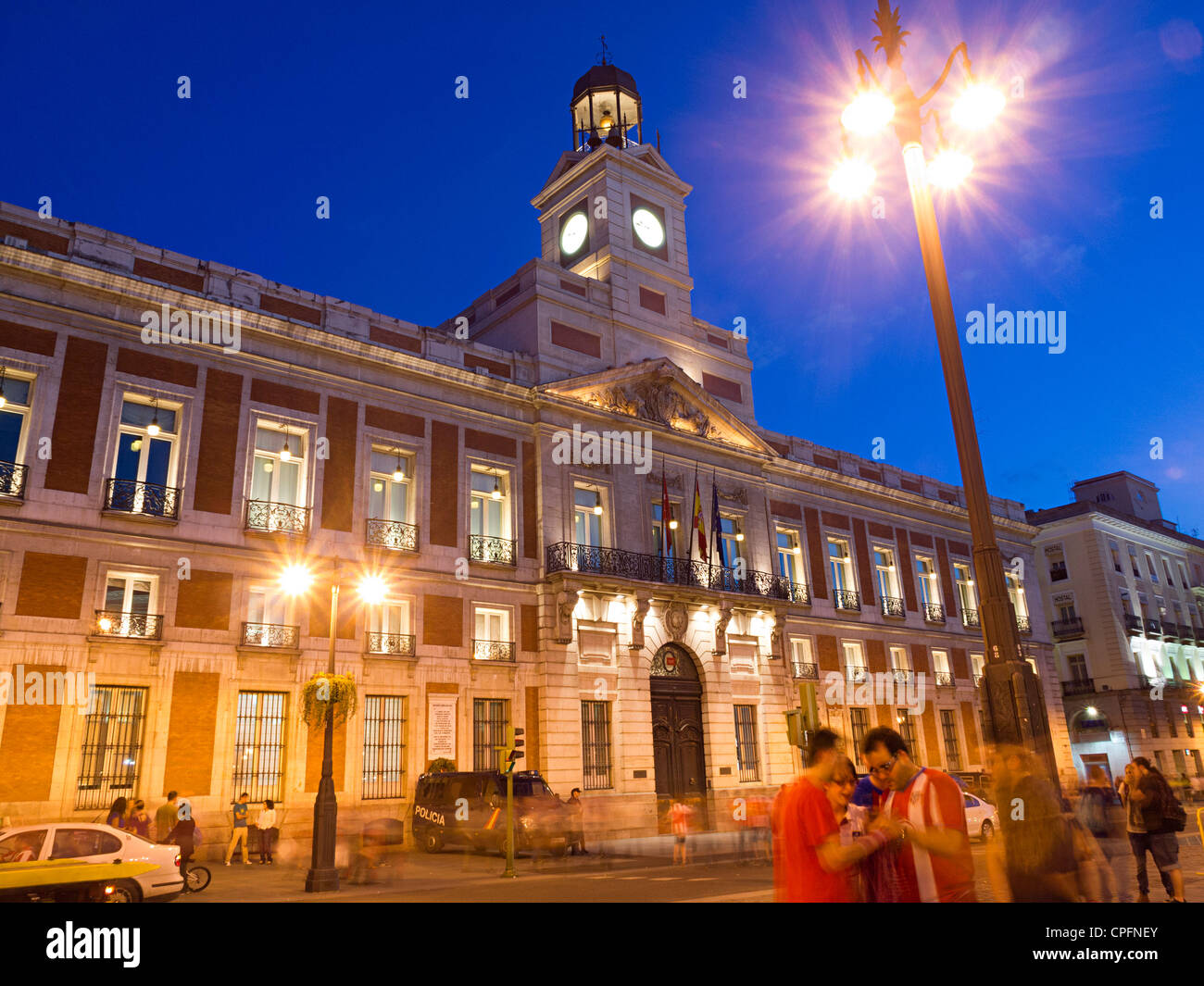 Comunidad de Madrid building in Puerta del Sol square, Madrid, Spain Stock Photo