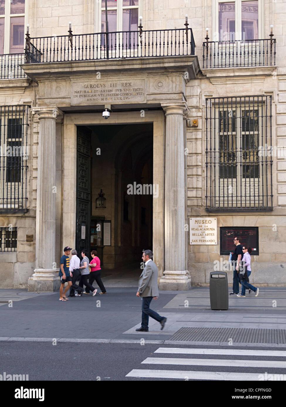 Real Academia de Bellas Artes (fine arts museum and gallery), Madrid, Spain, Europe - Stock Image