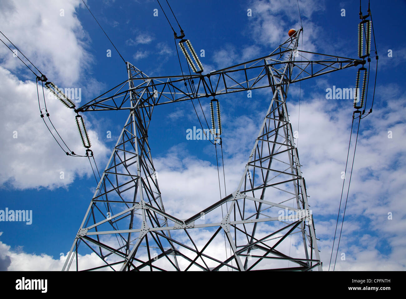 High voltage electric line - Stock Image