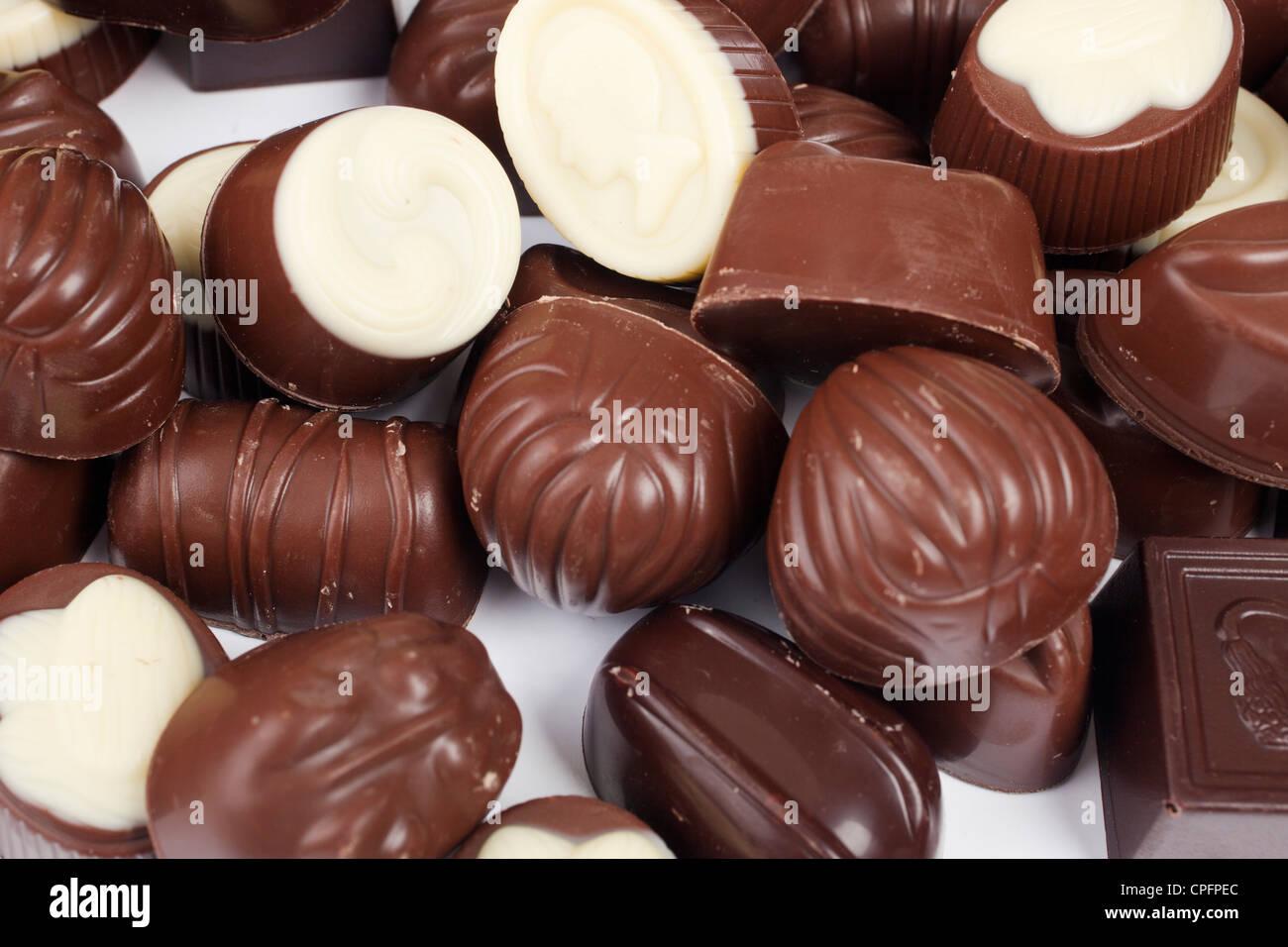 Chocolate bonbons - Stock Image
