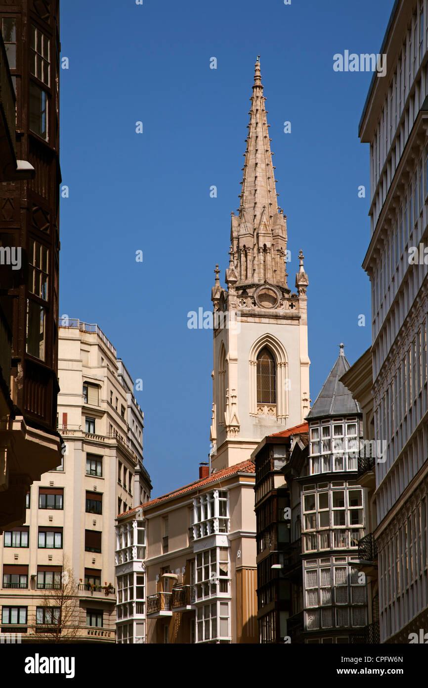 City center Santander Cantabria Spain - Stock Image