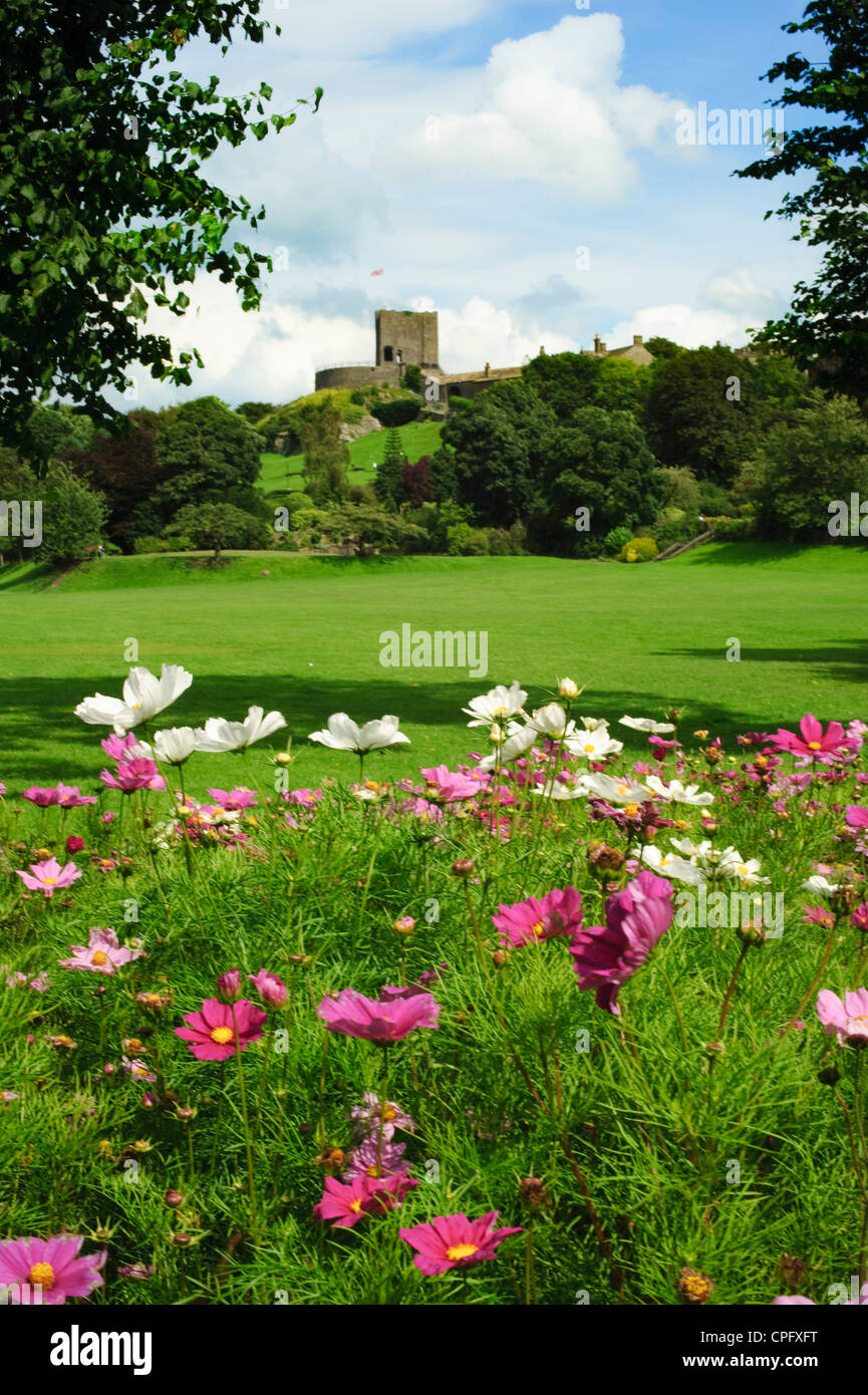 Clitheroe Castle in the Ribble Valley Lancashire England - Stock Image