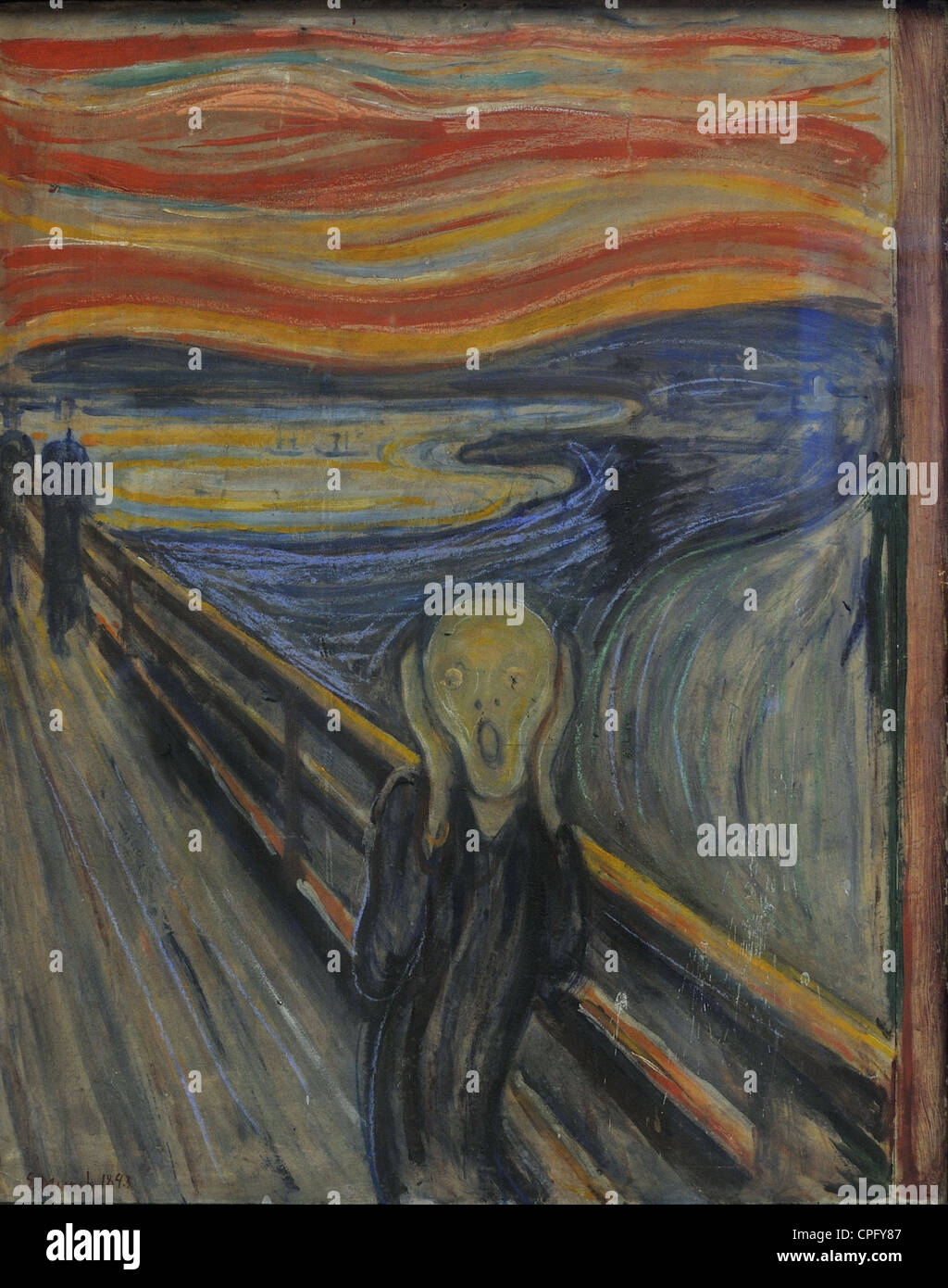 critical analysis of edvard munchs the scream The sky in edvard munch's the scream fred prata, alan robock, and richard hamblyn the sky in munch's famous painting is compared with photographs of a display of nacreous clouds.
