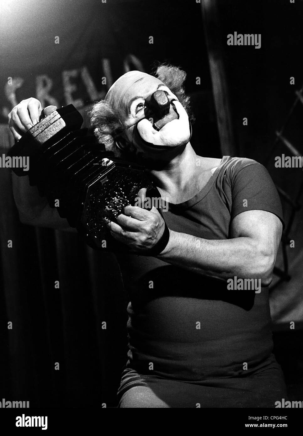 Rivel, Charlie, 28.4.1896 - 26.7.1983, Spanish clown, half length, performing, 1960s, Additional-Rights-Clearances - Stock Image