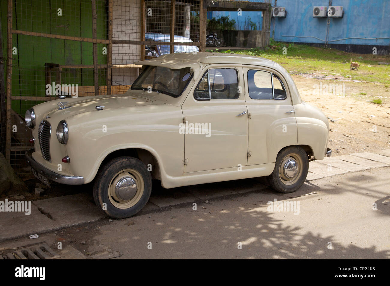 Old car, Austin A35, near Kandy, Sri Lanka, Asia - Stock Image