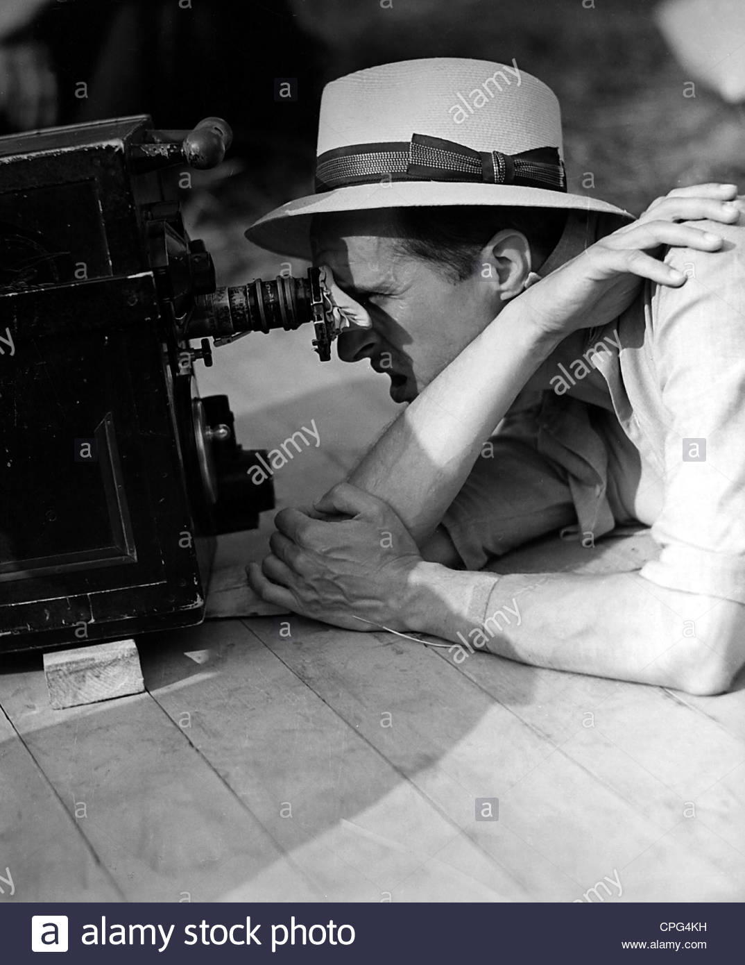 Clair, Rene, 11.11.1898 - 15.3.1981, French director, half length, filming, 1950s, Additional-Rights-Clearances - Stock Image